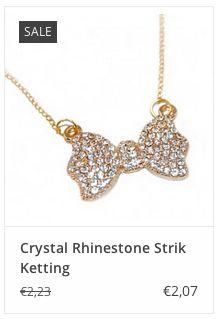 € 2,07 Crystal Rhinestone Strik Ketting www.ovstore.nl/nl/crystal-rhinestone-strik-ketting.html