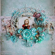Sparkle - Blue Fern Studios using their beautiful Vintage Christmas and Vintage Christmas 2 collections