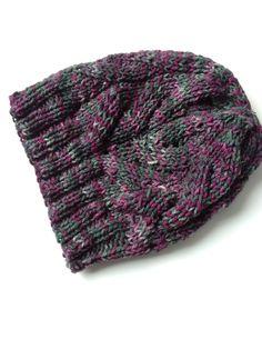 New to LittleGemsByLuisa on Etsy: Handmade Knitted Hat - Purple Forest Green Winter Hat - Hand Made Knitted Fall Hat - Wine Green Hat - Fall Hat - Silk Wool Hat (31.00 USD)