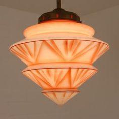 Zeer bijzondere Art Deco hal lampje