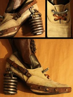 Steampunk diy 143552306842757342 - DIY Sreampunk Inspiration: Steampunk Portal Boots Source by paulpeplinski Steampunk Shoes, Style Steampunk, Steampunk Pirate, Steampunk Accessories, Steampunk Cosplay, Victorian Steampunk, Steampunk Clothing, Steampunk Diy, Steampunk Fashion
