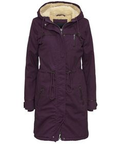 We love Burgundy! Ichi Parka #fashion #fall #coats #engelhorn