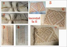 Folk Embroidery Tutorial Semne Cusute: incretul la ie Hungarian Embroidery, Embroidery Motifs, Machine Embroidery, Embroidery Ideas, Antique Quilts, Embroidery Techniques, Weaving, Cross Stitch, Album
