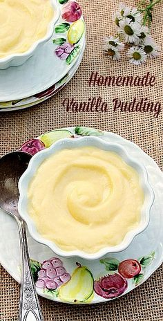 Homemade Vanilla Pudding This luscious Homemade Vanilla Pudding is easy to make and delicious. It's made with Half and Half which gives it a smooth, creamy texture along with the wonderful vanilla flavor.
