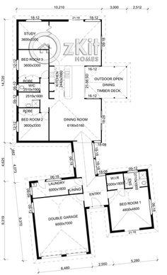 pavillion house plans | Quays Pavilion Brick Veneer - Oz Kit Homes