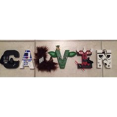 Hand-painted Star Wars decorated letters