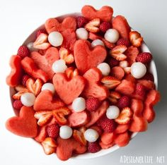Watermelon Heart Fruit Salad | 25 Delectable Valentine's Day Treats