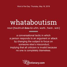 Whataboutism - Word of the Day Interesting English Words, Unusual Words, Weird Words, Rare Words, Learn English Words, Unique Words, Cool Words, Fancy Words, Words To Use