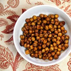 Honey-Roasted Cinnamon Chickpeas - these burned badly for me, after tossing them in the honey mixture