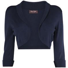 Phase Eight Shawl Collar Bolero ($77) ❤ liked on Polyvore featuring outerwear, jackets, navy, sale, evening bolero jacket, navy blue jacket, bolero jacket, navy shrug and shrug bolero