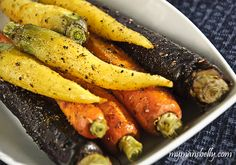 Oven Roasted Carrots with Indian Spices