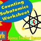 Teaching about atoms, atomic structure, or the Periodic Table of Elements? This worksheet can help your students with protons, neutrons, and electrons! $