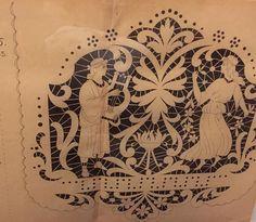Delicate 1930s cut lace pattern from Barcelona! More in T26 at #GaslampToo! http://gaslampantiques.com/ #vintage #lacepattern #BESTAntiqueStore
