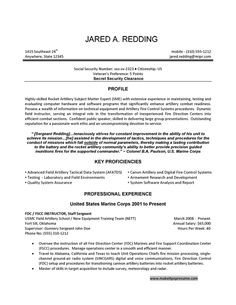 Example Of Military Resume Pleasing Professional Hospitality Resume Writers  Vision Professional .