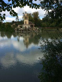 Pond with water wheel queens hamlet Versailles