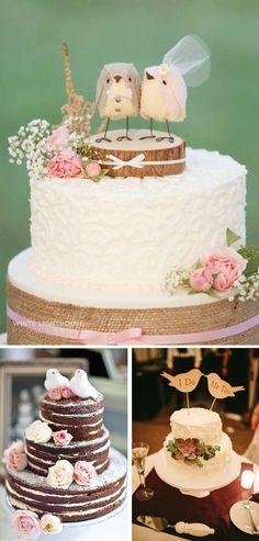 Decoración de boda con pájaros 7 tarta cake toppers