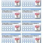 Incentive Punch Cards - Club Cranium - for weekly educational challenges. Classroom management.