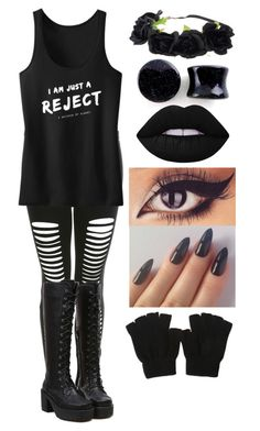 """Emo"" by amazingnatalee ❤ liked on Polyvore featuring Miss Selfridge and Lime Crime"