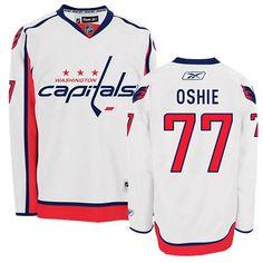 140e96fa9 Womens Capitals  77 T.J. Oshie White Away Jersey Washington Capitals Jersey