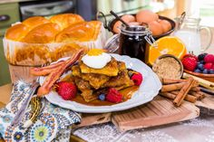 Actress Jessica Collins bakes her favorite breakfast dish, a Creme Brulee French Toast!