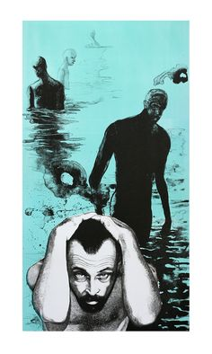 Christiaan Diedericks lithograph - Life Below the Surface - Cellular Memory Pretty L, Below The Surface, Printmaking, Doodles, African, Etchings, Comics, Drawings, Collages