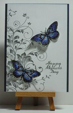 Cathys Card Spot: Sparkly Blue Butterflies