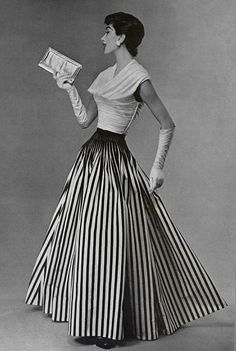 1955 Nina Ricci #Vintage #Fashion #Chic