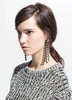 Mango's strass take on Céline Resort 2015 statement earrings - LaiaMagazine Rhinestone Earrings, Statement Earrings, Women's Earrings, Mango Clothing, Fast Fashion, Womens Fashion, Big Jewelry, Jewellery, Mars