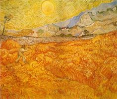 Wheat Field behind Saint Paul Hospital with a Reaper - Vincent van Gogh