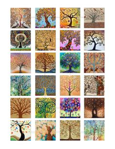 Tree of Life Digital Collage Sheet Printable by AlbatrossCreation