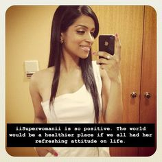 Lilly Singh A.k.a. IISuperwomanII <3 For me, she is known as The POSITIVE QUEEN!!!!! ^_^ You Must Watch Her Videos!!!!! Cmon go to youtube and RIGHT NOW check out her videos!!! <3
