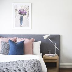 Blush Throw, Bedroom Styles, Floating Nightstand, Staging, Color Combos, Instagram Posts, Table, Furniture, Home Decor