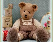 CANDY Bear/ Toy/ Teddy Knitting Pattern/ pdf by maryjanestearoom