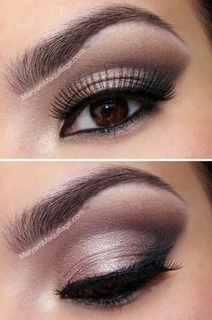 Nice make-up for brown eyed girls.