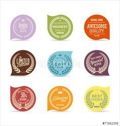 Vector: Modern badges