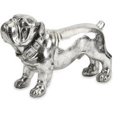 Muscatine Stick Silver Dog Statue