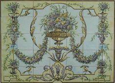 17th Century Potuguese Tile murals, spanish tile, victorian tile, decorative tile, ceramic tile