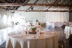 barn wedding close to Salem Oregon with twinkle light backdrop