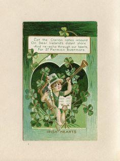 Vintage St. Patrick's Day Postcard Cute Boy in by datedpaper