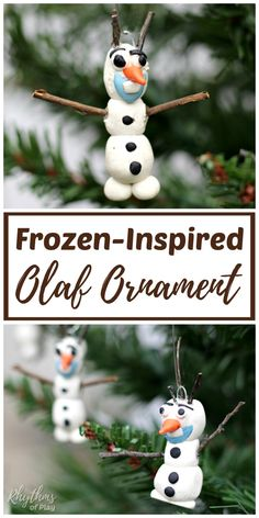A homemade DIY Olaf ornament is an easy Christmas craft for kids inspired by Disney's Frozen. Handmade ornaments like this polymer clay Olaf ornament are perfect for the Christmas tree. They make beautiful holiday decorations and a unique kid-made gift id Handmade Christmas Crafts, Christmas Crafts For Kids, Christmas Diy, Christmas Ornaments, Handmade Ornaments, Holiday Crafts, Unicorn Ornaments, Martha Stewart Crafts, Diy Headboards