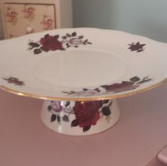 Pretty cake or jewellery stand in vintage fine china by Colclough, sugar bowl and cake plate with beautiful roses, up-cycled and bespoke. - pinned by pin4etsy.com