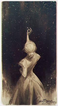 The Old Astronomer Art Print by charliebowater Art Inspo, Kunst Inspo, Art Anime, Anime Kunst, Manga Art, Art And Illustration, Illustration Pictures, Landscape Illustration, Fantasy Kunst
