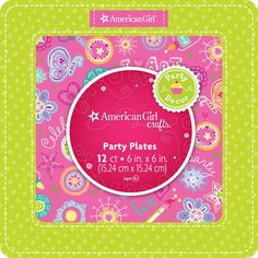 Amazon.com: American Girl Crafts Dessert Plates: Toys & Games