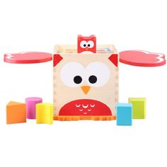 50.00$  Watch now - http://alivwj.worldwells.pw/go.php?t=32787003495 - Kid's Soft Montessori Wooden Blocks Toy Set Classic Geometric Shape matching box For children learning High quality gift 50.00$