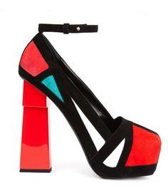 9c785d23b49514 Décolleté façon Mondrian Formes Géométriques, Mondrian, Talons Fous,  Chaussures À La Mode,