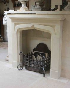 Cast Iron Stove, Fire Surround, Hearth, Fireplaces, Contemporary Style, Design, Home Decor, Log Burner, Fireplace Set