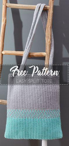 Easy Split Tote – Free Crochet Pattern – Crochet Love