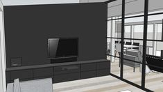TAILORED TV SOLUTION - Therese Knutsen Family Tv, Glass Partition, Media Storage, Dream House Exterior, Lounge, Room, Furniture, Tvs, Interior Ideas