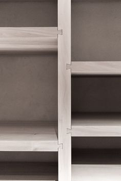 Dovetailed shelves