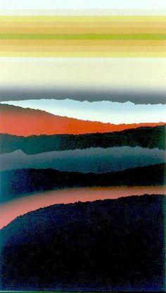 A Clear Space a silkscreen-colograph print by Arthur Secunda